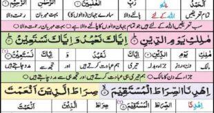 Surah-Fatiha with urdu translation
